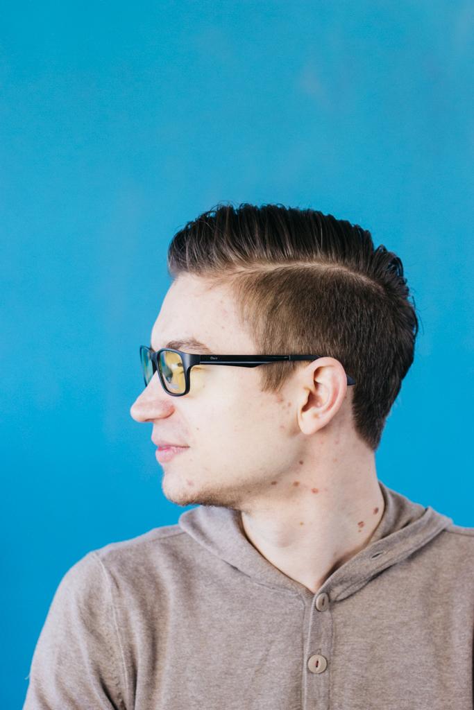 Blaulichtfilter Brille Duco Seite