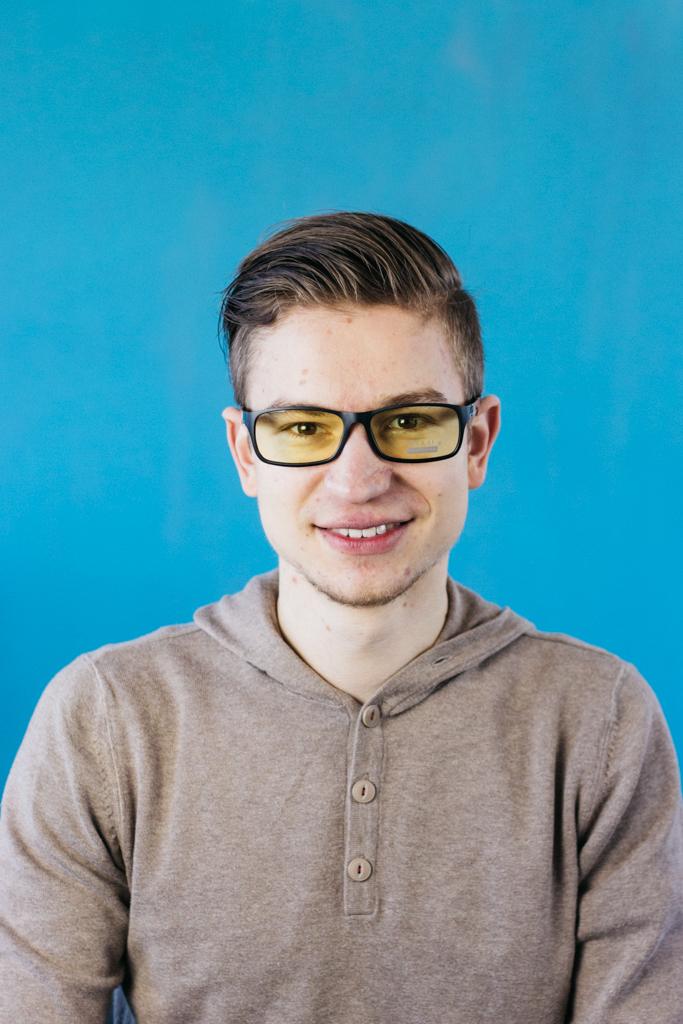 Blaulichtfilter Brille Duco Vorne